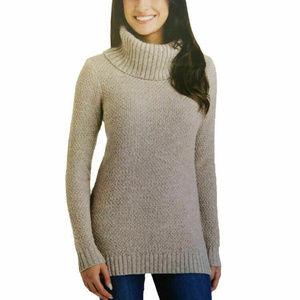 Hilary Radley Ladies Cowl Neck Cotton Sweater Tan